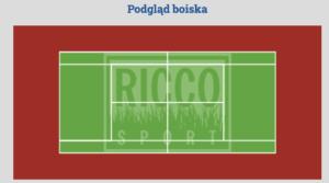 kort tenisowy ze sztuczną trawę
