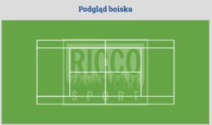 Plan kortu ze sztuczną trawą